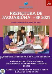 Apostila Pref Jaguariúna SP Engenheiro Segurança do Trabalho Ano 2021