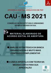 Apostila CAU MS ARQUITETO e URBANISTA Prova 2021