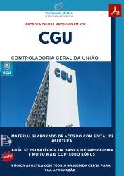 Apostila CGU - Analista de Finanças e Controle - Área Administrativa.