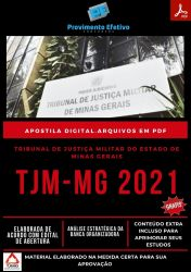 Apostila Digital TJM MG Oficial Judiciário Ano 2021