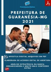 Apostila Pref Guaranésia MG Professor Português Ano 2021