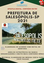 Apostila Pref Salesópolis SP Nutricionista Prova 2021