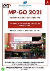 Apostila MP GO Secretário Oficial Concurso 2021