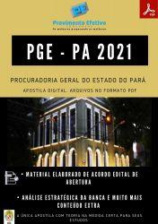 Apostila PGE PA Assistente Procuradoria Ano 2021