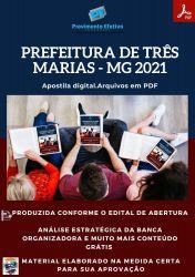 Apostila Pref Três Marias MG Farmacêutico Bioquímico Ano 2021