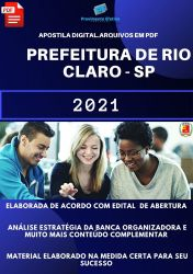 Apostila Pref Rio Claro SP Analista Gestão Municipal Prova 2021
