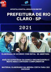 Apostila Pref Rio Claro SP Assistente Gestão Municipal Prova 2021