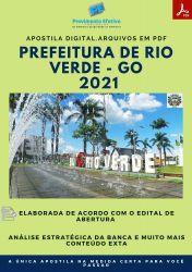 Apostila Prefeitura Rio Verde GO Telefonista Prova 2021