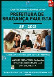 Apostila Prefeitura Bragança Paulista Guarda Civil Ano 2021