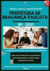 Apostila Prefeitura Bragança Paulista Agente de Trânsito Ano 2021