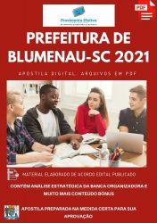 Apostila Pref Blumenau SC Professor Português Prova 2021