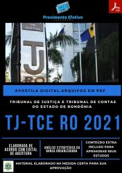 Apostila TJ RO Analista Sistemas Analista Judiciário Ano 2021