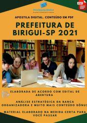 Apostila Prefeitura Birigui SP Professor Auxiliar Ano 2021