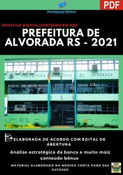 Apostila Prefeitura Alvorada RS Auxiliar Administrativo Ano 2021
