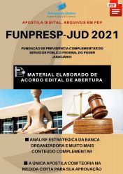 Apostila FUNPRESP DF Administração e Finanças Analista Ano 2021