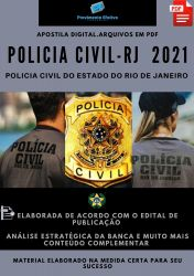 Apostila Polícia Civil RJ Investigador Policial Ano 2021