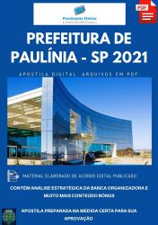 Apostila Prefeitura Paulínia SP Agente  Administrativo Ano 2021
