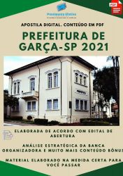 Apostila Prefeitura Garça SP Fiscal Ano 2021