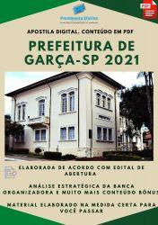 Apostila Prefeitura Garça SP Escriturário Ano 2021