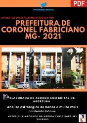 Apostila Pref Coronel Fabriciano MG Agente Comunitário Ano 2021