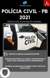 Apostila Polícia Civil PB ENGENHARIA Perito Criminal Ano 2021