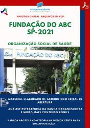 Apostila Fundação ABC SP Auxiliar Saúde Bucal Prova 2021