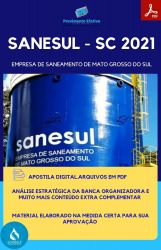 Apostila SANESUL MS Engenheiro Sanitarista Concurso 2021