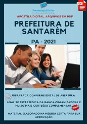 Apostila Prefeitura Santarém PA Psicólogo Ano 2021