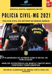 Apostila Polícia Civil MG Escrivão de Polícia Ano 2021
