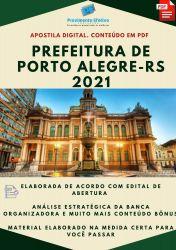 Apostila Prefeitura de Porto Alegre RS Psicólogo Ano 2021