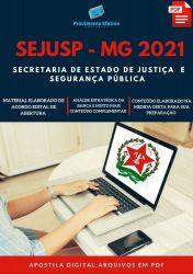 Apostila SEJUSP MG Agente de Segurança Penitenciário Prova 2021