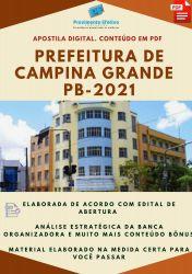 Apostila Prefeitura Campina Grande PB Médico do Trabalho Prova 2021