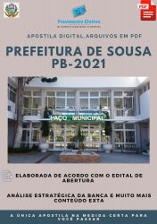 Apostila Prefeitura Sousa PB Fisioterapeuta 2021